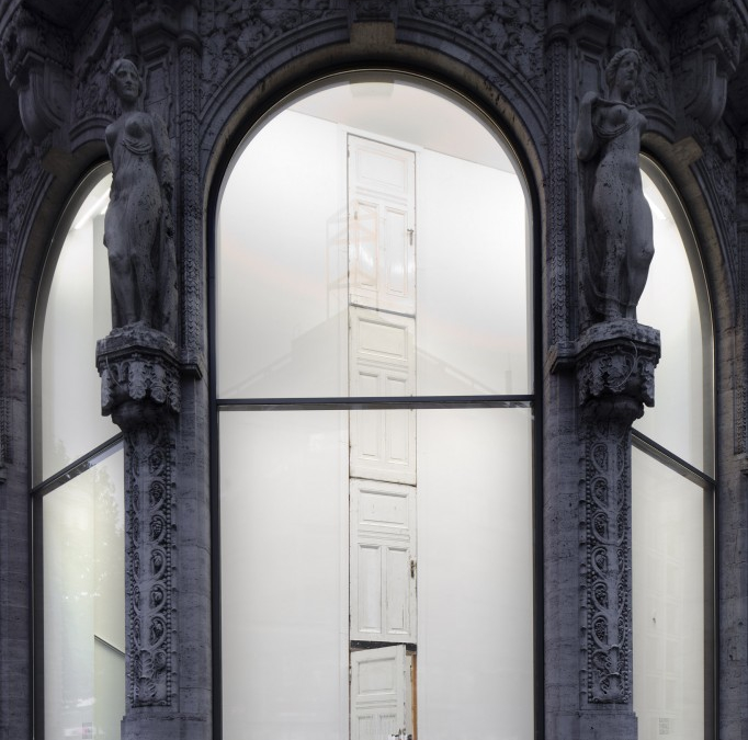 A door repeated and the wardrobe fell, 2012 at Galerie Thomas Schulte, Berlin-2
